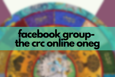text reads facebook group, the crc online oneg