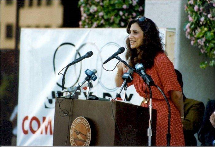 Susan at KKK counter rally 1994 700x479